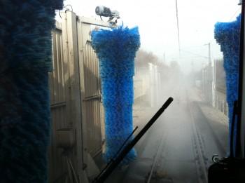 Machine  à laver train RER B