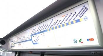 Plan lumineux RER B