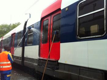 Nettoyage extérieur des trains