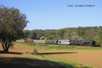 Train à vapeur, en direction de Reims