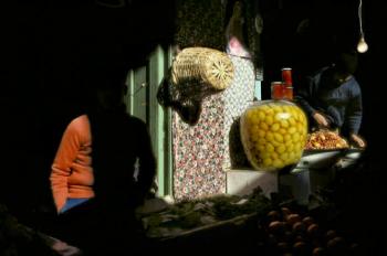 MAROC. Meknes. Souk. Citrons confits. 1988. ©Harry Gruyaert / Magnum Photos