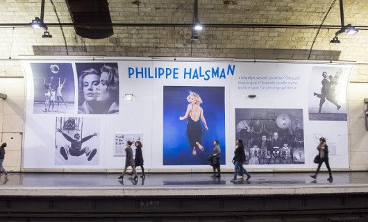 EXPOSITION PHILIPPE HALSMAN RER B Luxembourg