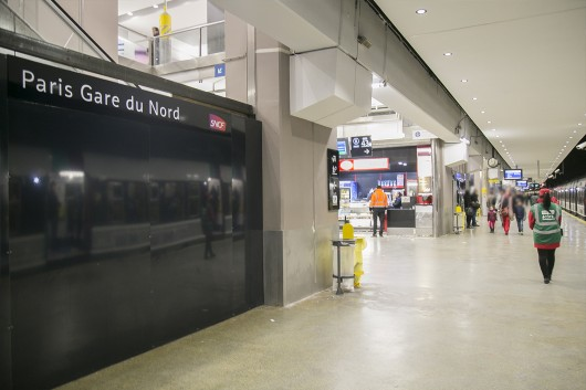 gare du nord les quais du rer b avant apr s. Black Bedroom Furniture Sets. Home Design Ideas